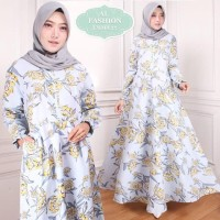 Maxi Emma (55) Bunga Baju Muslim Wanita Gamis Model Kekinian Terbaru