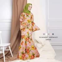 Maxi Dress Mermaid Rose Baju Muslim Wanita Model Kekinian Terbaru
