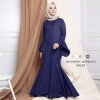 Maxi Dress Mermaid Polos Baju Muslim WanitaModel Kekinian Terbaru