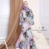 Maxi Dress Mermaid Shimery Baju Muslim Wanita Model Kekinian Terbaru