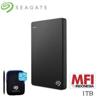 Seagate Backup Plus Slim Hardisk Eksternal 1TB - Hitam [FS]