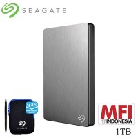 Seagate Backup Plus Slim Harddisk Eksternal 1TB - Silver