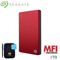 Seagate Backup Plus Slim Harddisk Eksternal 1TB - Merah