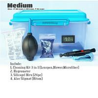 Drybox Kamera size medium with hygrometer dan silica gel