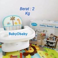 Pliko Folding Booster Seat (Grey & Brown) Kursi Tempat Makan Bayi