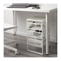 Unit Rak Laci Meja   Roda IKEA LENNART DRAWER TABLE Putih