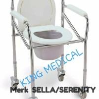 Commode Chair Kursi BAB Serenity Pakai Roda khusus gojek & garb