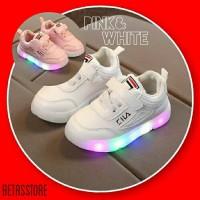 Sepatu anak LED model FILA sneakers anak laki laki dan perempuan
