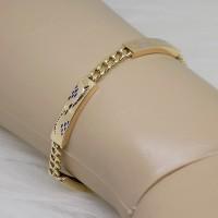 gelang tangan emas asli warna kombinasi 70% SB 1