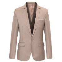 Fashion Pria - Blazer Elegant Design Cream Cool Korean Style