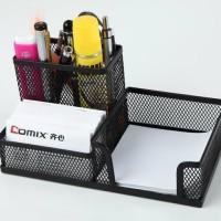 Memo Holder Panjang 3 Sekat Desk Set Organizer Tempat Pensil Meja Pen