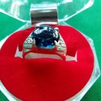 Cincin Perak BATU BLUE OBSIDIAN Model Cewek 01 BP JMR