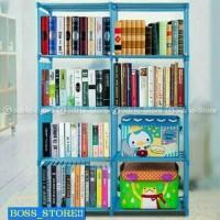 PROMO Boss_store Rak Buku Portable DOUBLE / Lemari Serbaguna 2 Sisi 1
