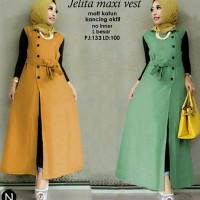 cn 7428 jelita maxi dress terusan gamis syari bunga flower wanita