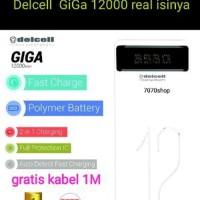 powerbank delcell GiGa 12000 mah polymare real kapasitas origi Murah