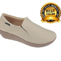 Sepatu Slip On / Flat Kasual Wanita  krem Raindoz RAH 006 murah ori