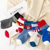 Kaos kaki anak laki cowok logo superhero boys socks set 5in1 usia 3-10