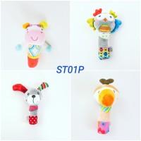 Mainan Bayi 3 Bulan Boneka Rattle Stick Premium
