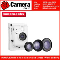 LOMOGRAPHY Instant Camera and Lenses (White Edition)