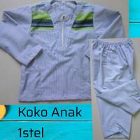Baju Koko Anak satu stel untuk usia 2,3,4 Tahun