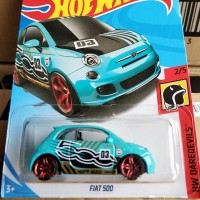 B0276-HOT WHEELS / HOTWHEELS-FIAT 500-BIRU MUDA