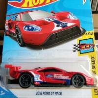 B0277-HOT WHEELS / HOTWHEELS-2016 FORD GT RACE-MERAH