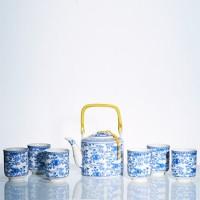 Tea Set Jepang Motif Bunga Biru