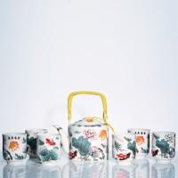Tea Set Jepang Motif Ikan