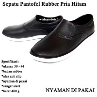 Sepatu Pria Rubber Kasual BLACK