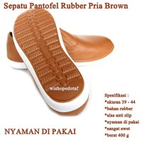 Sepatu Pria Rubber Kasual COKLAT