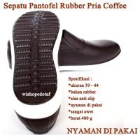 Sepatu Pria Rubber Kasual COFFEE
