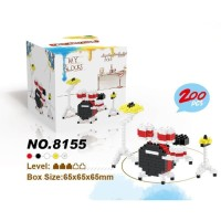 Jual Lego Nano Block Lele Brother Drum Set 8155
