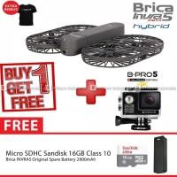 BRICA INVRA5 / INVRA 5 Hybrid 4K Drone AirSelfie Deluxe 16GB - Black