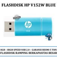 USB Flashdisk HP V152W 8GB Blue (USB 2.0) - Original resmi