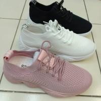 Sepatu Tali Fashion Bahan Rajutan Lembut Sol spon lembut b3af0a3a1c