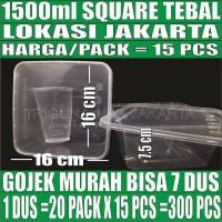 Thinwall 1500 ml food container box tempat kotak makan plastik murah