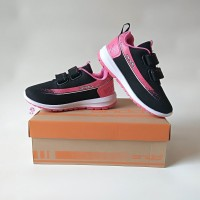 Sepatu Anak Perempuan Sepatu Sekolah TK PAUD Cewek Perekat Velcro