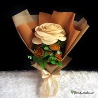 Harga Buket Bunga Mawar Flanel DaftarHarga.Pw