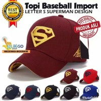 TOPI BASEBALL SUPERMAN DESIGN IMPORT PREMIUM  SNAPBACK   TRUCKER e4030b4e97
