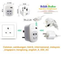 Colokan sambungan listrik internasional malaysia singapore A 004 AC