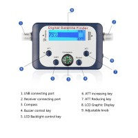 Satlink Digital Satellite Signal Finder Meter Pencari Sinyal Satelit