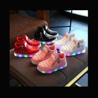 Sepatu Anak Lampu Led Anak Perempuan Colorful MM Diamond (ZH-SS016)