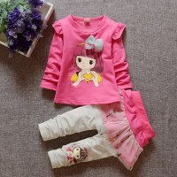 Baju setalan anak perempuan usia 1-4 Tahun motif
