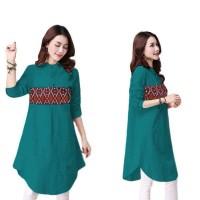 Harga blouse wanita adra blouse motif batik etnik atasan wanita | antitipu.com