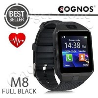 Jual Cognos M8 Smartwatch Heart Rate DZ09 Smart Watch Full Blac