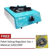 WINN GAS Kompor Gas Stainless 1 Tungku W-188 FREE Paket Limited