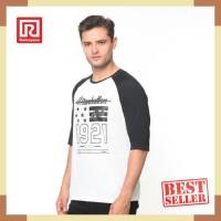 Ramayana - RAF - Kaos Tshirt Raglan Manhattan Putih