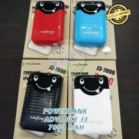 Original Power Bank Advance J3 7800 MAH Powerbank PB USB Portable