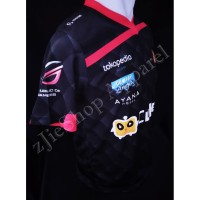CF_ Jersey Kaos Baju Gaming RRQ-Rex Regum Qeon-Black Red Edition-