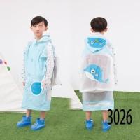 Jas hujan mantel anak animal / dino / kucing / ayam / dolphin - 3025